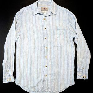 The Territory Ahead Mens M Tall 100% Linen Shirt